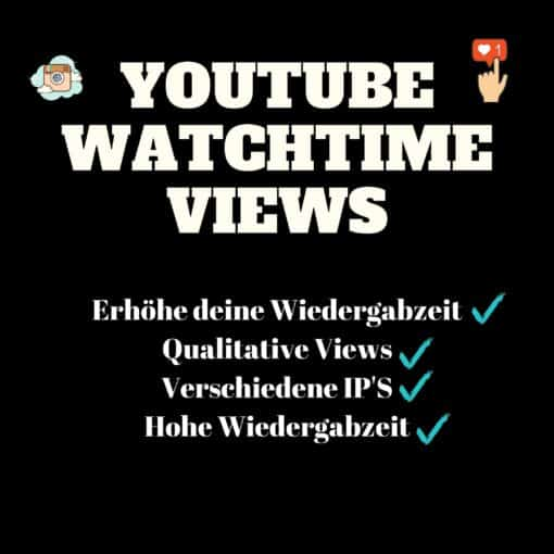 Youtube Watchtime kaufen